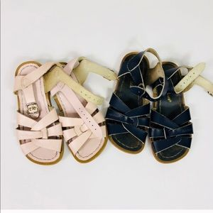 Saltwater Sandals Blue & Pink Leather Shoes 11